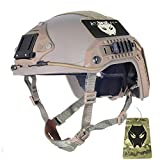 ATAIRSOFT Adjustable Maritime Helmet ABS for Airsoft Paintball(DE,L/XL)