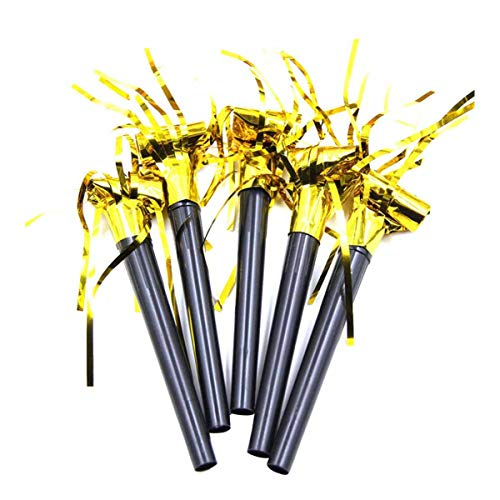 Buy Discount Party Blower Noisemakers Musical Blowouts Gold Glitter Fringed Metallic Noisemakers Whi...