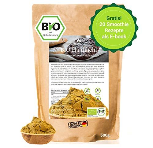 BIO Hanfmehl aus Deutschland 500g, Hanfsamen Mehl vegan, Alternative zum Hanfprotein