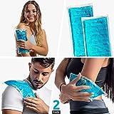 Medcosa - Set de bolsas de gel frío/calor | 2 bolsas de frío flexibles para lesiones deportivas, dolores musculares, ciática, migrañas y mucho más | Compresas de frío/calor reutilizables multifunción