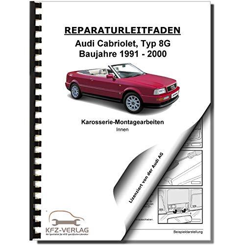Audi Cabriolet 1991-2000 Karosserie Montagearbeiten Innen Reparaturanleitung