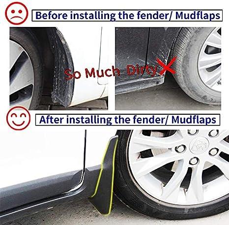 HNRLSL Car Mud Flaps Mudguards Mud Flap Splash Guards For Fender Mudflaps Accessories//Fit For Audi A6 Sedan 2011 2012 2013 2014 2015 2016 Color : Black