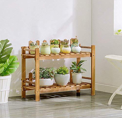 Présentoir d'usine de cadre de bonsaï, support moderne de fleur de plancher de balcon de planchers de bois de style solide moderne de style moderne simple (taille : 70 * 51cm)