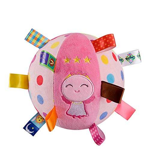 Security Blanket Ball Multi-Colored Soft Baby Lovey Unisex Lovie Christmas Gift for Newborn Toddler (Angel, One Size)