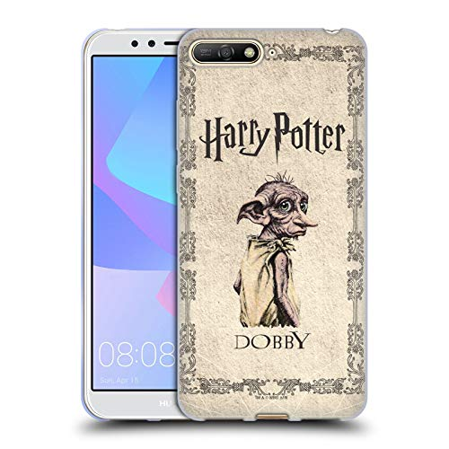 Head Case Designs Ufficiale Harry Potter Creatura Dobby House Elf Chamber of Secrets II Cover in Morbido Gel Compatibile con Huawei Y6 (2018)