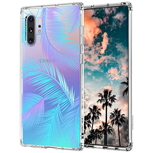Case for Galaxy Note 10 Plus,MOSNOVO Shockproof TPU Bumper Slim Clear Case with Cute Design for Samsung Galaxy Note 10 Plus 5G Phone Case Cover - Tropical Palm Leaves Tree
