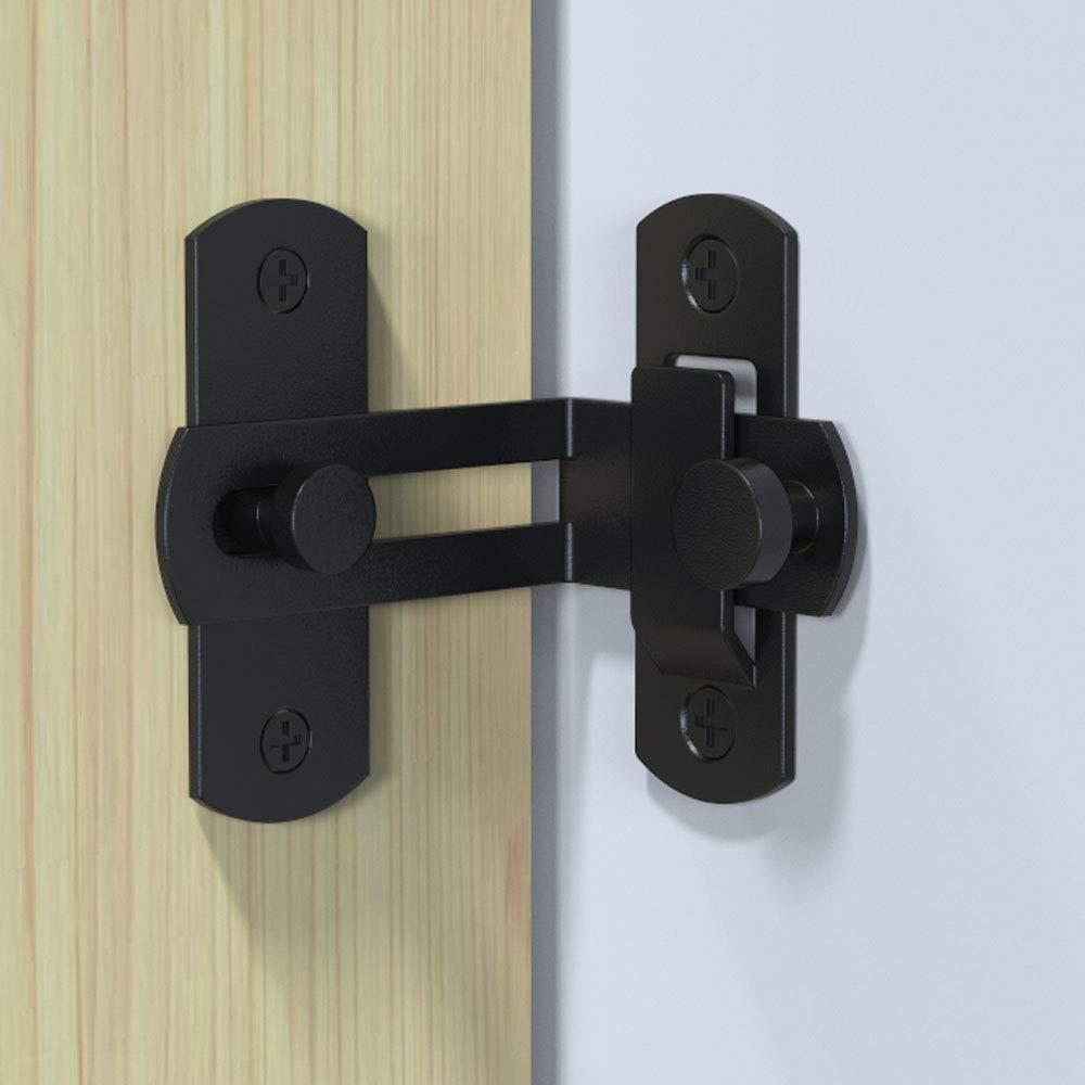 YUM 90 grados de acero inoxidable negro cerradura de puerta grande ...