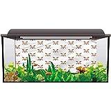 bybyhome Aquarium Poster Baseball,Crossed Bats with Balls Backdrop Decorative Paper L24 X H16 Inch
