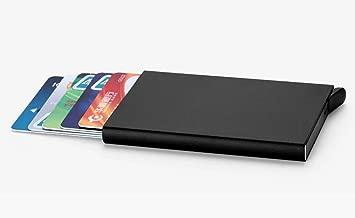 VOGARD Men's Aluminium RFID Protected Smart Wallet (Black)
