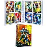 Carpeta de Titular de Tarjetas,tarjetas GX y EX álbum,álbumes de Tarjetas coleccionables,álbumes de Entrenador Pokemon Tarjetas GX EX,20 Páginas, Hasta 160 Tarjetas