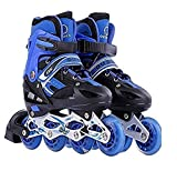 Toy Arena Adjustable Size Inline Skates with LED Flash Light On Wheels for Kids (Age 10 to16 Years)...