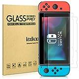 laxikoo 2 Piezas Protector de Pantalla para Nintendo Switch, 9H Dureza Cristal Templado [Fácil Instalación] [Sin Burbujas] [Anti-Arañazos] [Alta Definicion] HD Vidrio Templado para Nintendo Switch
