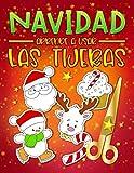Navidad: Aprende a usar las tijeras: Un bonito libro de actividades para que los niños conozcan los conceptos básicos de cortar, pegar y colorear