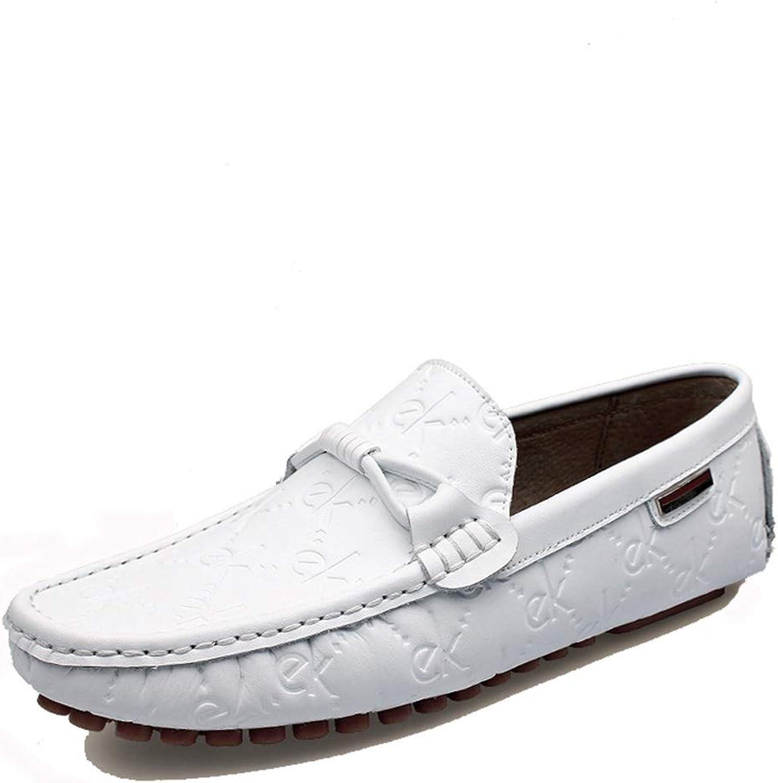 läder skor ny herrar skor utomhus Casual Casual Casual skor Driver skor Comfortable Andable läder skor Soft Andable Flat skor läder skor (Färg  vit, Storlek  43)  inget minimum