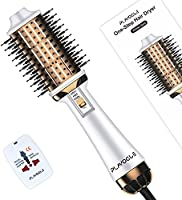 Plavogue One-Step Hair Dryer Brush Volumizer w/Negative ION, Dual Voltage, Hot Comb Iron Straightener Curler for Women...