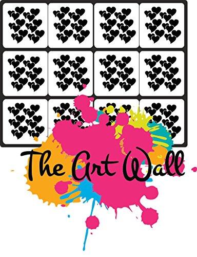 Hearts Nail Stencils Stickers Vinyl Nail Art/Nail Deco/ Airbrush