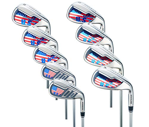 MAZEL Single Length Golf Club Irons Set 4-SW(9 Pieces) (Right, Graphite, Middle(SR))