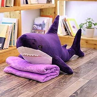 60-100 cm Creatieve leuke Giant Polupar Haai Huid Zachte Pluche Haai Halffabrikaten Jas Vis Kussen Speelgoed Dolll Gift vo...