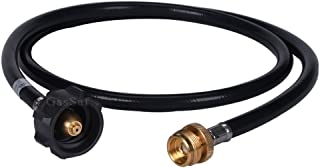 GasSaf 5FT Propane Adapter and Hose Assembly Replacement with Hose for Type1 LP Tank and Gas Grill-CSA Certified
