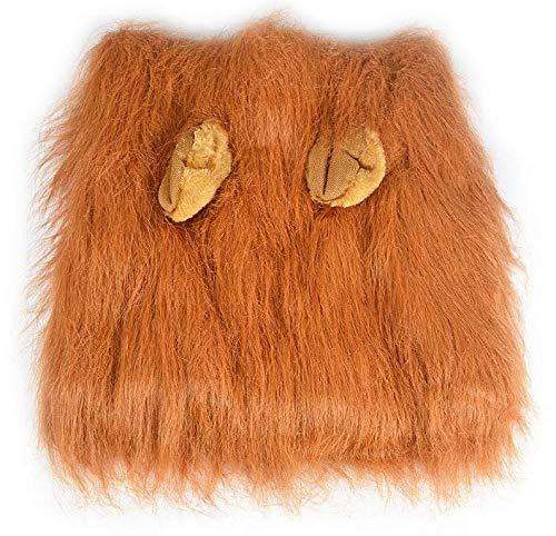 Generic Löwenmähne Perücke für Hund und Katze Kostüm mit Ohren verstellbar bequem Fancy Löwe Haar Hund Kleidung Kleid für Halloween Weihnachten Osterfest Party Aktivität