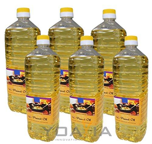 6er Pack 100{7fdcd489086adcfb21903729aa2e7a2ce622d479a8185d82725fb4f39829e0fd} Erdnuss-Öl [6x 1000ml] Erdnussöl ~ Peanut Oil ~ Wok Öl