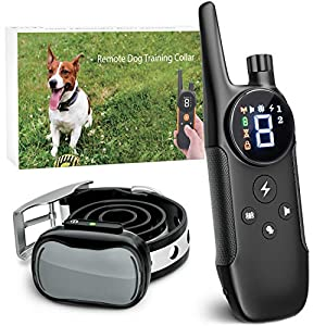 Enrivik Small Dog Shock Collar with Remote – Small Size Dog Training Collar for Small Dogs 5-15lbs – Waterproof & 1000 Feet Range