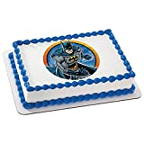 Whimsical Practicality Batman Edible Icing Image Cake Topper, 7.5' Round