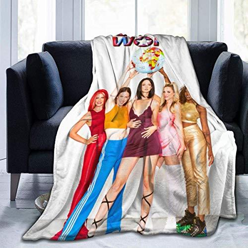 Yaxinduobao Manta suave Spice Up Your Life Spice Girls Manta de microfibra súper suave y acogedora 203 x 152 cm