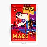 Nasa Scifi Mars Postcrossing Tourism Planet Science Travel Fiction Home Decor Wall Art Print Poster !