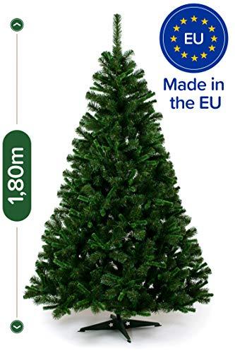 Künstlicher Weihnachtsbaum 180cm in Premium-Qualität - Authentische Nordmanntanne für eine festliche und naturgetreue Weihnachtsdeko - Hochwertiger Tannenbaum künstlich inkl. Weihnachtsbaumständer