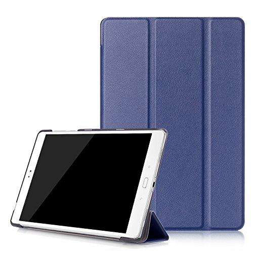 """Awenroy Coque pour ASUS ZenPad 3S 10 (Z500M) 9.7"""" Tablette 2016 Release Housse Etui Smart Cover Case Ultra Fin Titulaire Stand Case en Cuir avec Fonction Sommeil/Réveil Automatique - Bleu Marin"""