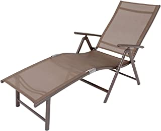 Outdoor Indoors Style MainwaysSpace Patio Chaise Lounge Embossing Vines Chaise Lounge Chair Black