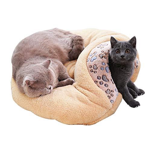 Ckssyao kat nest kat slaapzak kat huis half gesloten huisdier bed Chihuahua Kennel herfst en winter zachte mat voor kleine huisdieren