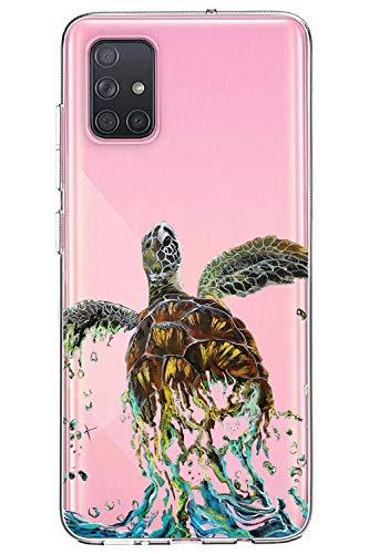Oihxse Funda para Samsung Galaxy A60/M40 Transparente, Estuche con Samsung Galaxy A60/M40 Ultra-Delgado Silicona TPU Suave Protectora Carcasa Océano Animal Serie Bumper (C10)