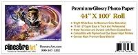 "44"" x 100'ロールプレミアム光沢インクジェット写真用紙[ Office Product ]"