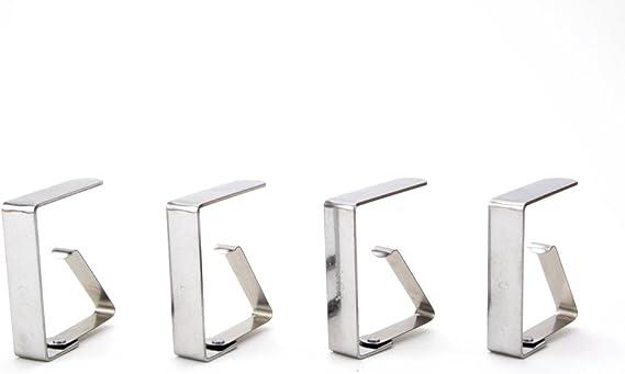 clip per tovaglia fermatovaglia per giardino fermatovaglio picnic Fermatovaglia in acciaio inox robusti 4 pezzi fermatovaglia clip fermatovaglio