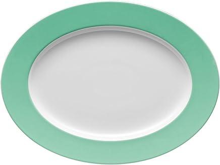 Preisvergleich für Thomas Sunny Day Platte, Servierplatte, Beilagenplatte, Porzellan, Baltic Green / Grün, Spülmaschinenfest, 33 cm, 12733