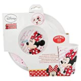 SET MICRO KIDS 3 PCS. (PLATO, CUENCO Y VASO 260 ML) MINNIE MOUSE - DISNEY - ELECTRIC DOLL