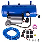 Tuningsworld 12V 150 PSI 6L Air Compressor air tank with Hoses fittings For Air Horns Train