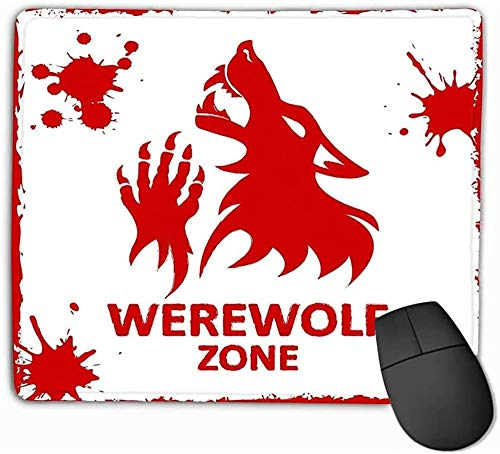 N/A Mouse Pad Poster Werewolf Zone White Background Fantesy Graphic Eps Kawaii Rectangle Rubber Mousepad 25 * 30Cm