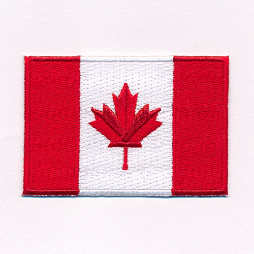 60 x 35 mm Kanada Flagge Canada Flag Ottawa Patch Aufnäher Aufbügler 0636 B