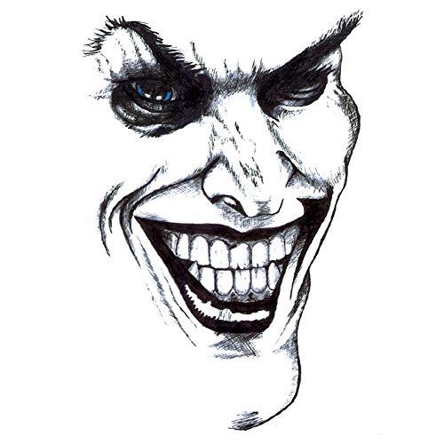 5 Stück Lächeln des Clowns WasserdichtTemporäre Tattoo Aufkleber Tatuagem Flash Tattoo Tatoo Kinder Maquiagem Adesivos Beauty Aufkleber