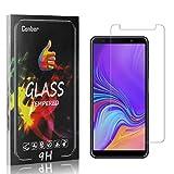 Conber [1 Stück] Displayschutzfolie kompatibel mit Samsung Galaxy A7 2018, Panzerglas Schutzfolie für Samsung Galaxy A7 2018 [Hüllenfreundlich][9H Härte]