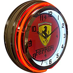 Ferrari Double Neon Clock