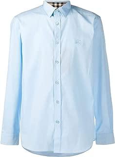 BURBERRY Luxury Fashion Mens 8024524 Light Blue Shirt |