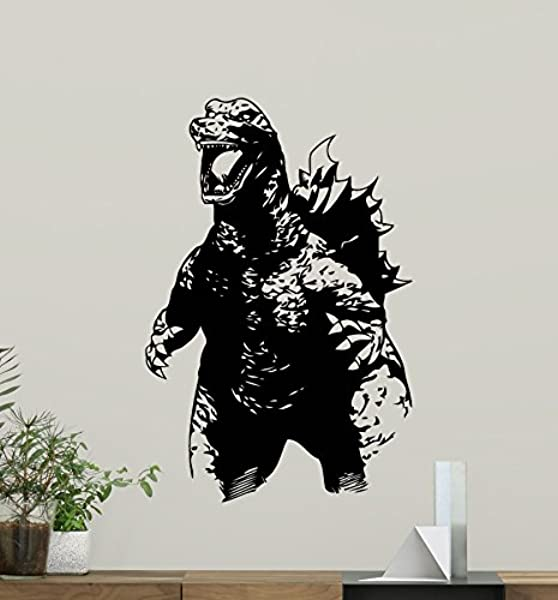 Godzilla Wall Decal Movie Monster Vinyl Sticker Bedroom Wall Art Design Housewares Kids Room Bedroom Decor Removable Wall Mural 86zzz