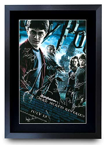 HWC Trading Halbblut-Prinz Harry Potter The Cast Daniel Radcliffe Emma Watson Rupert Grint Gifts Druckposter signiert Autogramm Bild für Film-Fans – A3 gerahmt