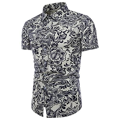 SSBZYES Camisas De Verano De Manga Corta para Hombres, Camisas para Hombres, Camisas Estampadas, Camisas De Flores De Moda para Hombres, Camisas Estampadas De Manga Corta Estilo Playa De Gran Tamaño