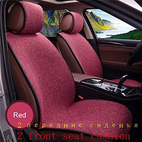 JIAXIAOYAN 2 piezas de los asientos del coche azul de la cubierta Capa de lino / 2 delanteras o 1 Asiento de atrás del cojín del amortiguador cabido la mayoría de coches, camiones, SUV, Protect interi