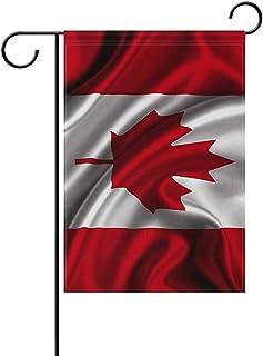 wallxxj Garden Flag Ondeando La Bandera De Canadá Bandera Nacional De Canadá Poliéster Estacional Resistente A La Intemperie 32X48Cm Bandera De Jardín Bandera De Inicio